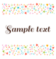 cute postcard with floral design elements vector image vector image