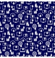 different devices downloading seamless pattern vector image