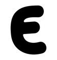E capital silhouette vector image vector image