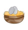 easter bowl egg celebration image vector image vector image