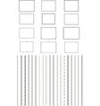 elegant borders vector image