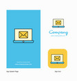 email on laptop company logo app icon and splash vector image vector image