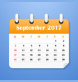 european calendar for september 2017 vector image