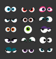 Eyes set funny comic monster