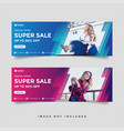 Fashion sale facebook cover banner template