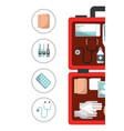 first aid kit medical health vector image