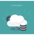 flat cloud computing vector image vector image