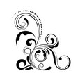 floral corner design swirl ornament isolated on vector image vector image