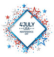 fourth july abstract background vector image vector image