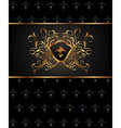 golden frame with heraldic elements - vector image vector image