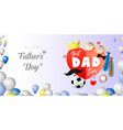 happy fathers day paper banner elements vector image