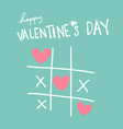 happy valentines day heart ox game vector image vector image