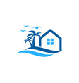 house wave logo icon design vector image