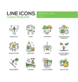 Human psychological problems- line design icons vector image