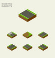 isometric way set of without strip unilateral vector image vector image
