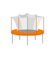 kid trampoline icon flat style vector image vector image