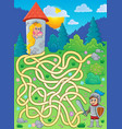 maze 4 with princess and knight vector image vector image