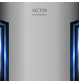 Metal background with blue elements vector image vector image