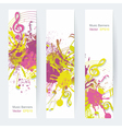 Music notes banner vector image vector image