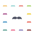 mustache flat icons set vector image vector image