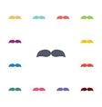 mustache flat icons set vector image