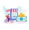 online shop online shopping delivery of goods vector image vector image