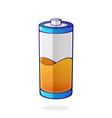 orange color energy status accumulator vector image