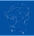 outline dumpster or dustbin vector image