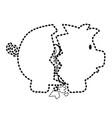 piggy bank sticker vector image