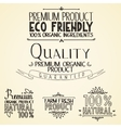 premium quality organic health food headings vector image vector image