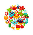 present box circle isometric concept vector image