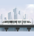 realistic light rail composition vector image vector image