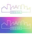 regina skyline colorful linear style editable vector image vector image