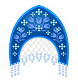 russian national traditional headdress female vector image vector image