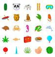 safari icons set cartoon style vector image vector image