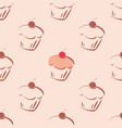 seamless pattern or tile texture with cupcakes vector image