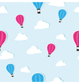 Seamless pattern with paper air balloons vector image