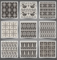 set seamless knitted patterns vector image vector image