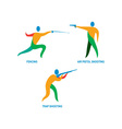 Shooting and Fencing Sport Icon vector image