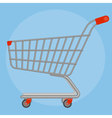 Side view supermarket cart vector image vector image