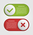 Slider infographic design template vector image