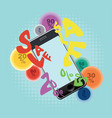 smartphone with sale word vector image