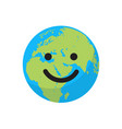 smiling cartoon flat globe vector image vector image