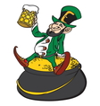 St Patrick Day leprechaun1 resize vector image