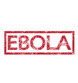 stamp text ebola vector image