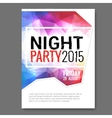Summer Night Beach Party Flyer Template vector image vector image