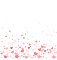 valentine day border design template vector image