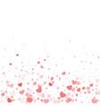 valentine day border design template vector image vector image