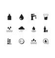 water icon rain splashes drops liquid drinks vector image vector image