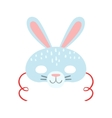 white rabbit animal head mask kids carnival